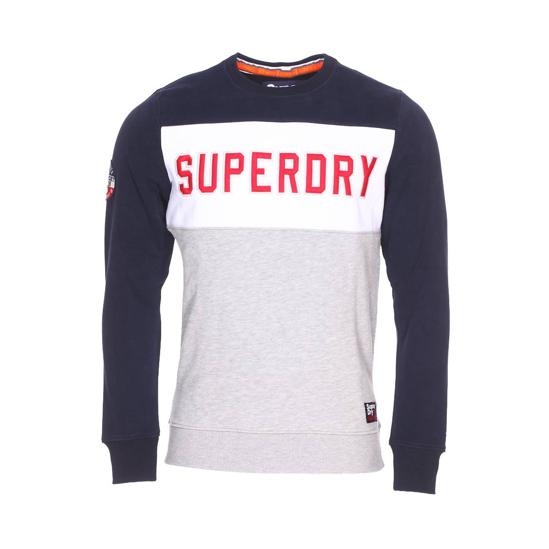 Coton Colour Col Superdry Molletonné Block Academy Sweat Rond En xHf0q4