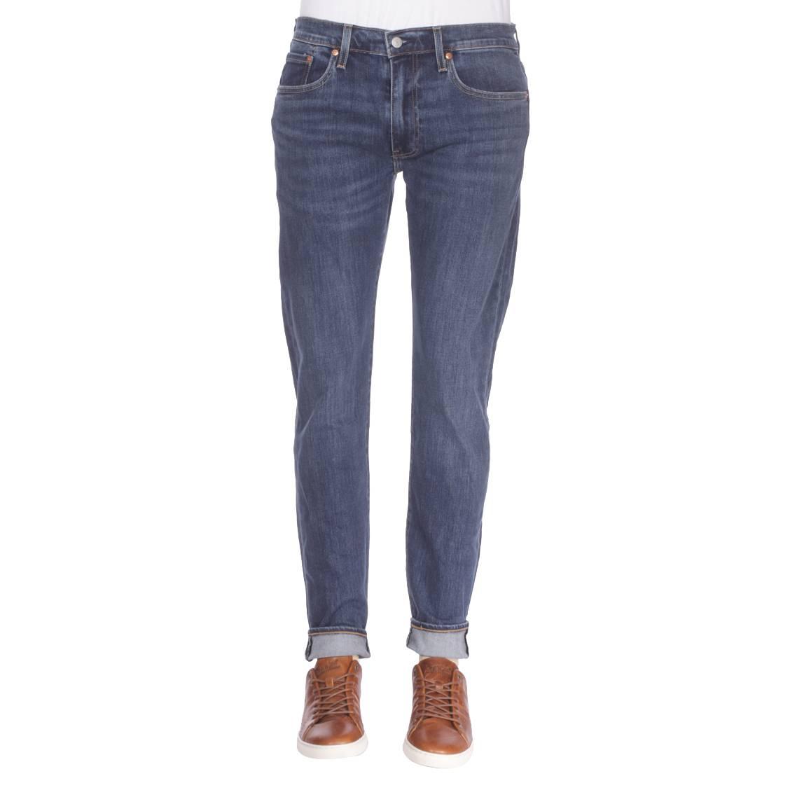 72dd96aeba9a7 Jeans Levi s 502 Regular Taper Crocodile Adapt en coton stretch bleu ...