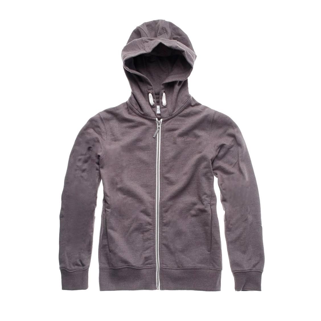 54ead47f01467 Sweat zippé à capuche Teddy Smith Junior Gelery en coton mélangé gris  anthracite chiné ...