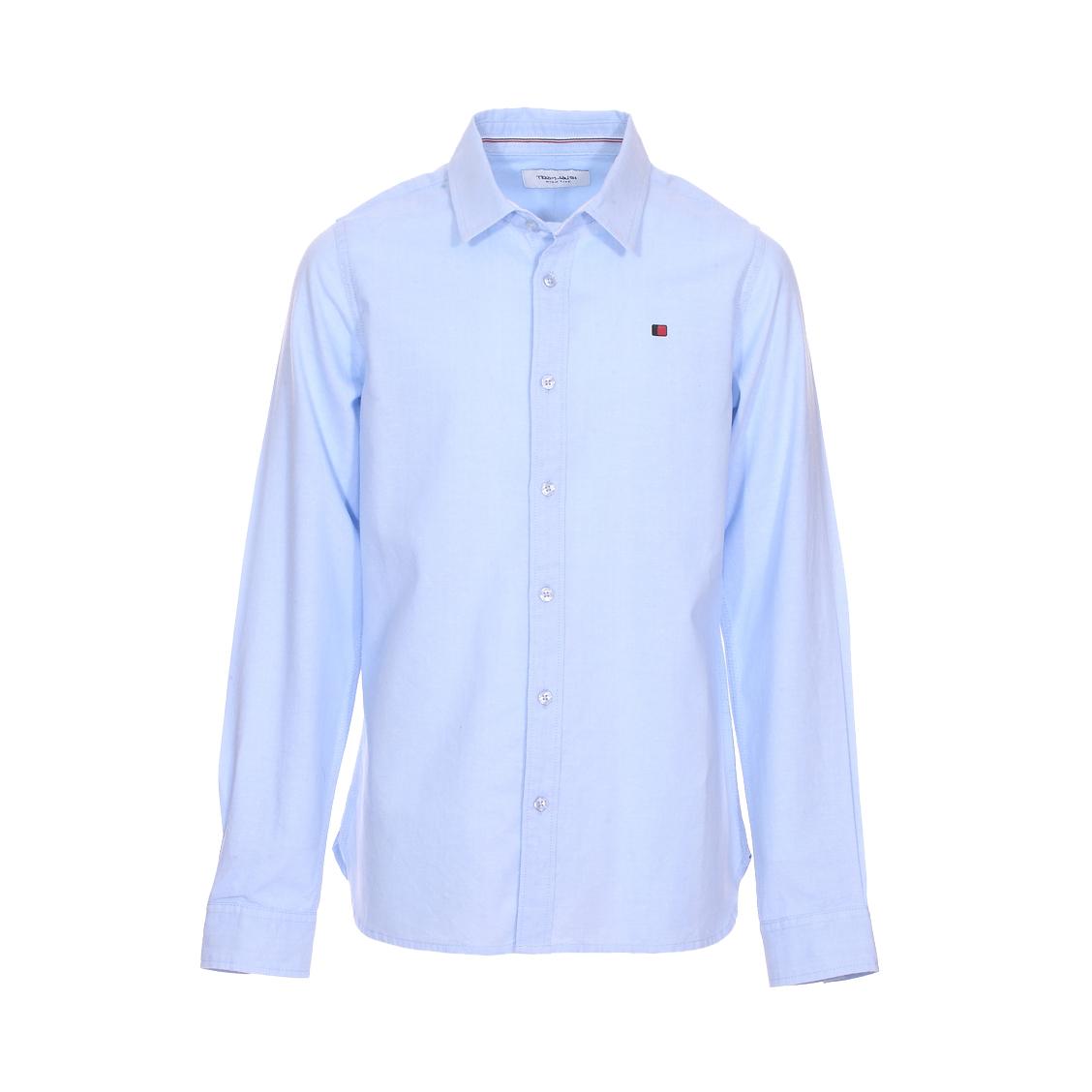 Chemise  cart en coton bleu ciel