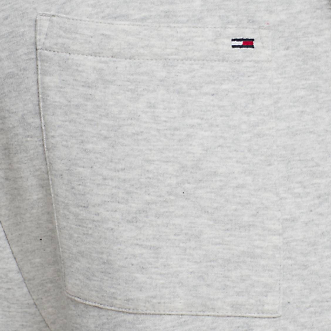... Pantalon de jogging Tommy Jeans Rib Logo en coton mélangé gris clair  chiné à ceinture logotypée ec3737f1dc5
