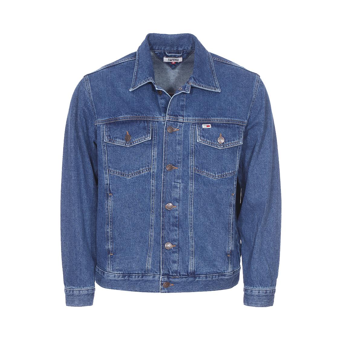 Veste en jean Tommy Jeans Classics en coton bleu. Veste Tommy Jeans  - Coton (100%) - Bleu jean - Coupe oversize
