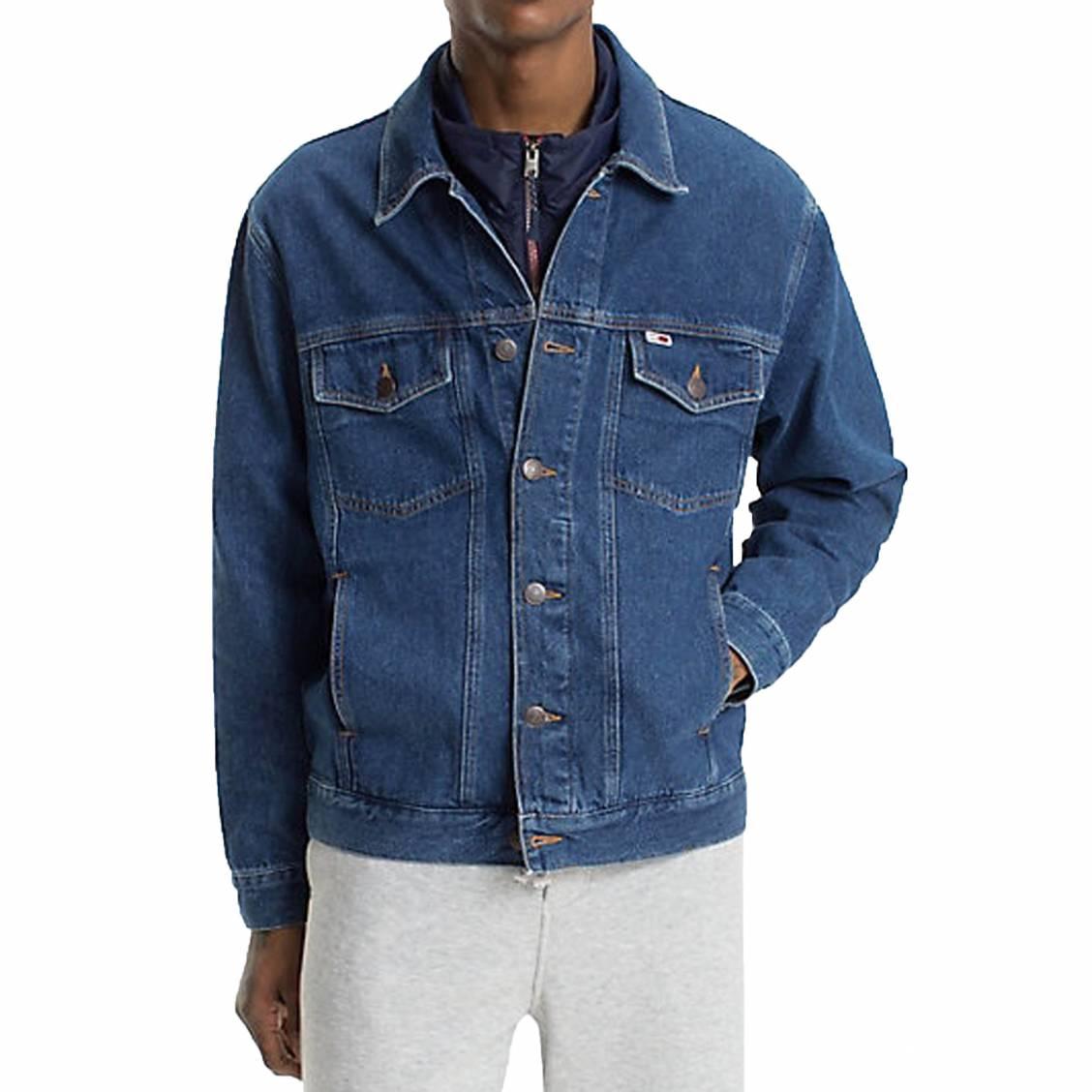 Jeans Classics Tommy En Veste Coton Des Jean Bleu Hommes Rue qfRA61