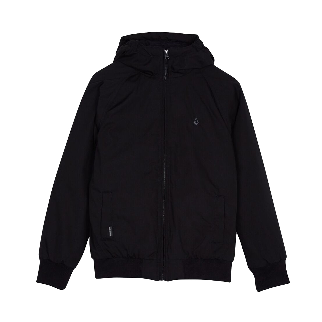 Blouson zippé à capuche  hernan noir