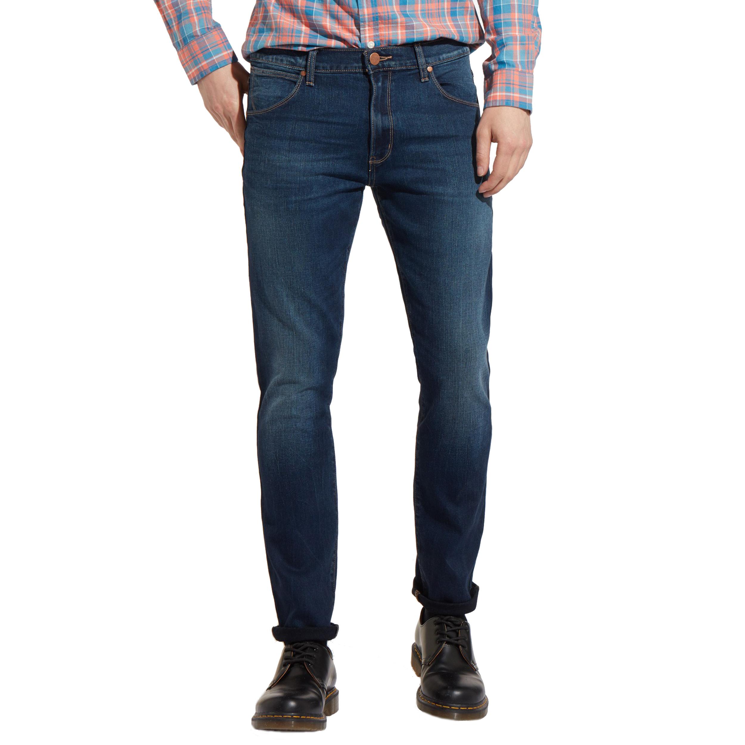 Jean slim  larston sin bin en coton stretch bleu foncé