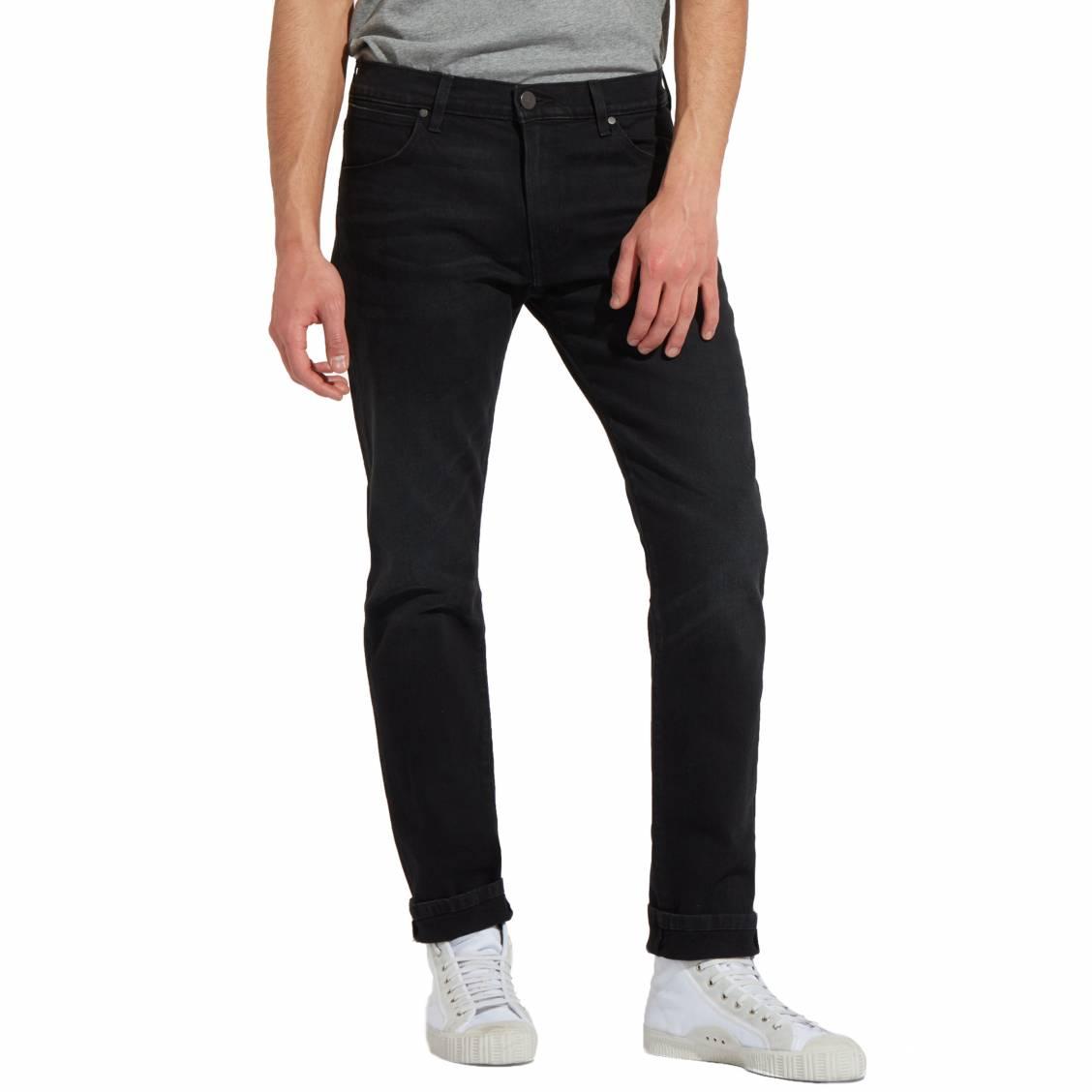 Jean slim tapered  larston en coton stretch noir
