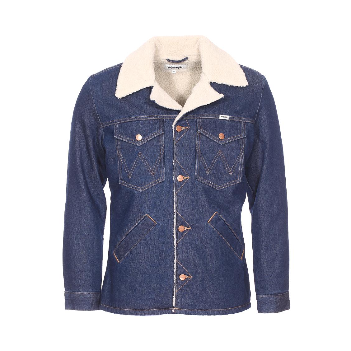 Veste en jean  ranch en coton bleu indigo
