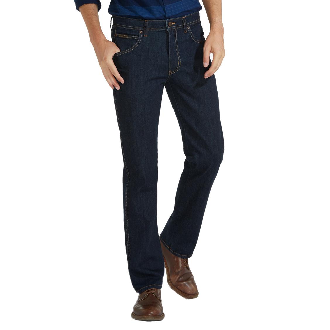 Jean droit  arizona en coton stretch bleu brut