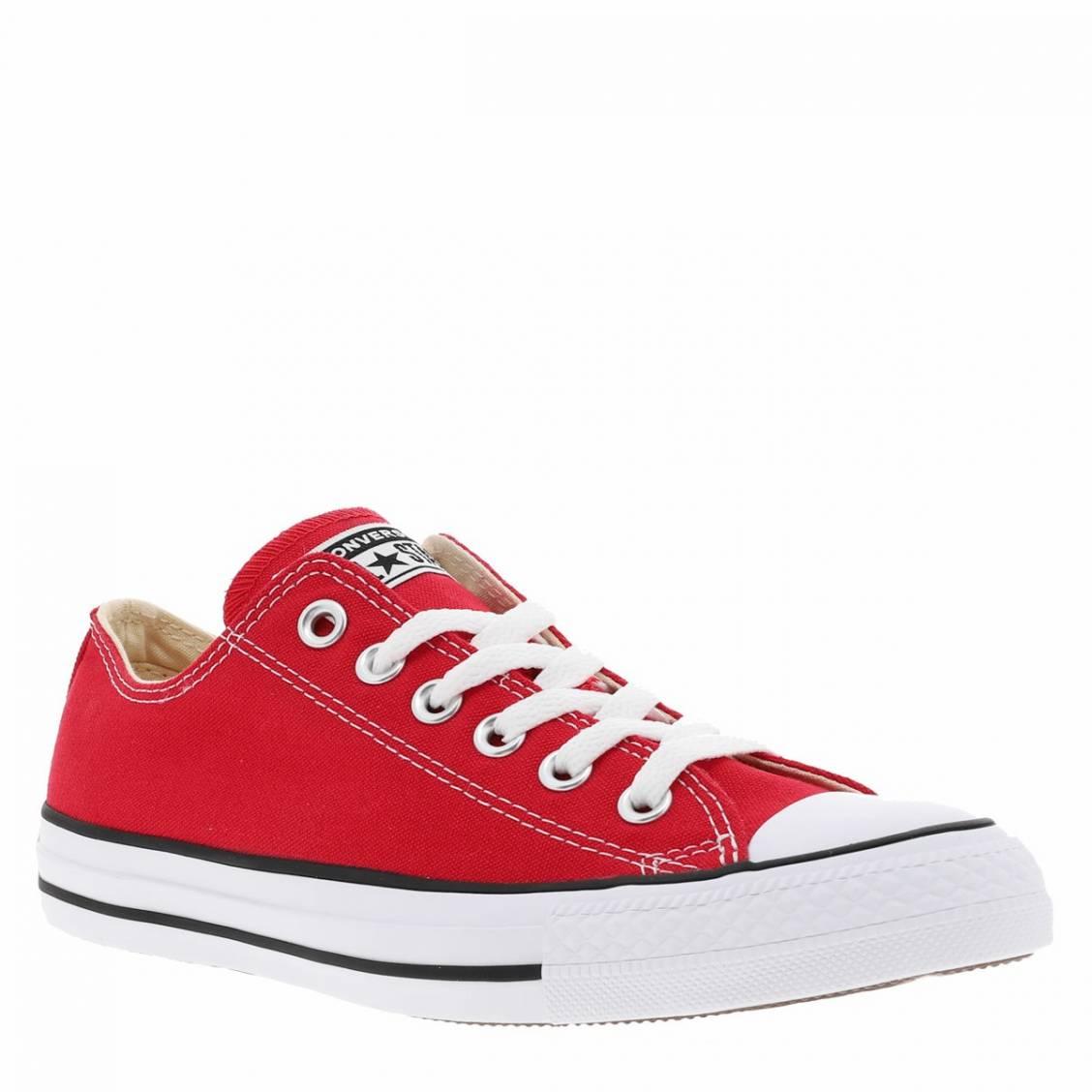 3d828662278a2 ... Baskets basses Converse Chuck Tailor en toile rouge ...