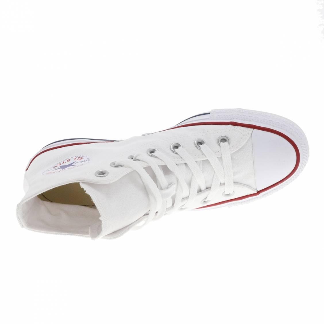 Baskets hautes Converse Chuck Tailor en toile blanche | Rue Des Hommes