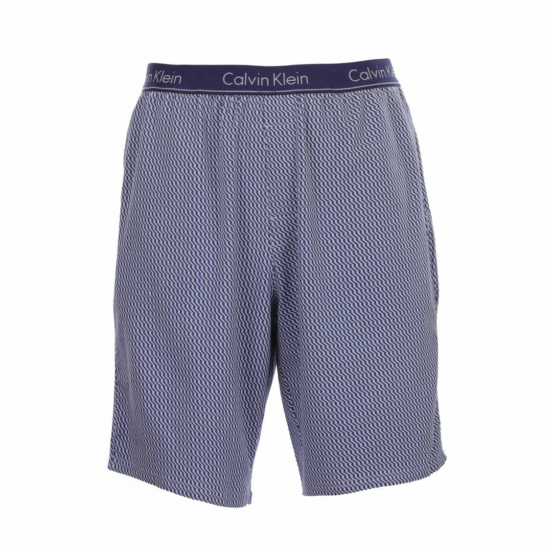 435945187e6 ... Pyjama court Calvin Klein en coton stretch   tee-shirt col rond bleu  pétrole et