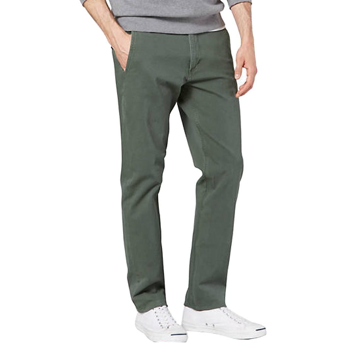 Pantalon chino  smart 360 flex alpha en coton stretch vert kaki