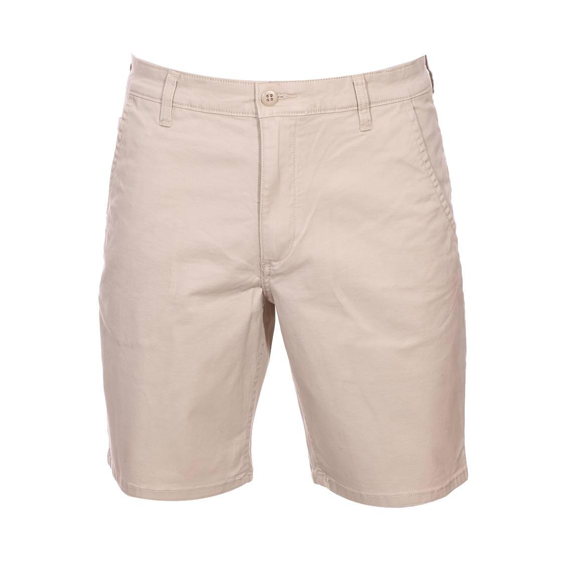 Short  alpha core en coton stretch beige