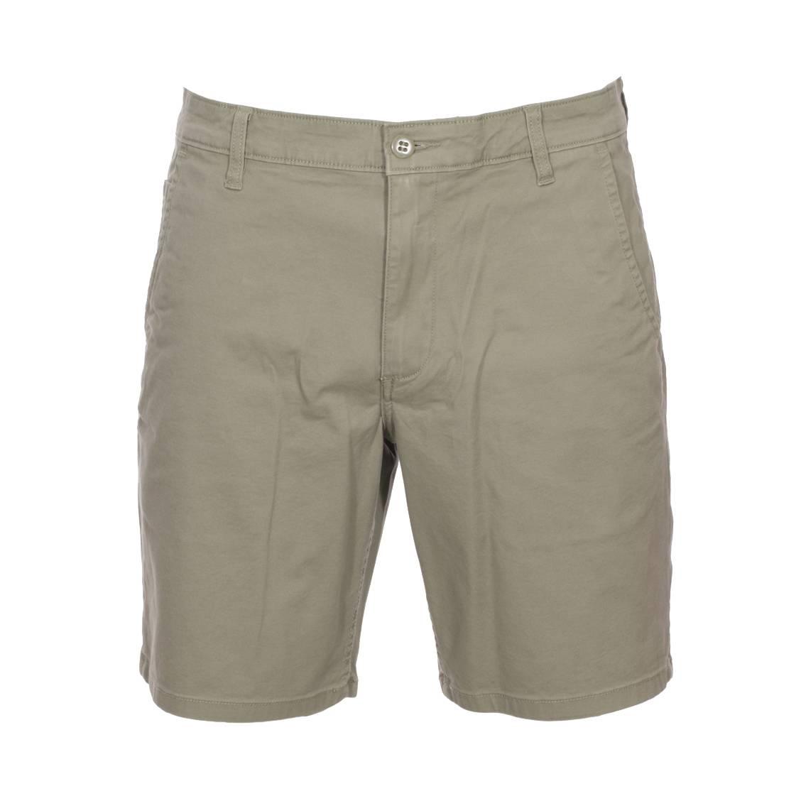 Short  alpha core en coton stretch vert kaki