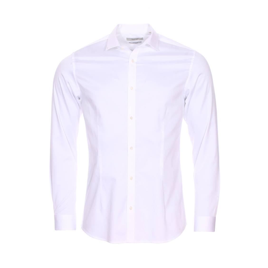 Chemise cintrée jack & jones premium parma en coton stretch blanc
