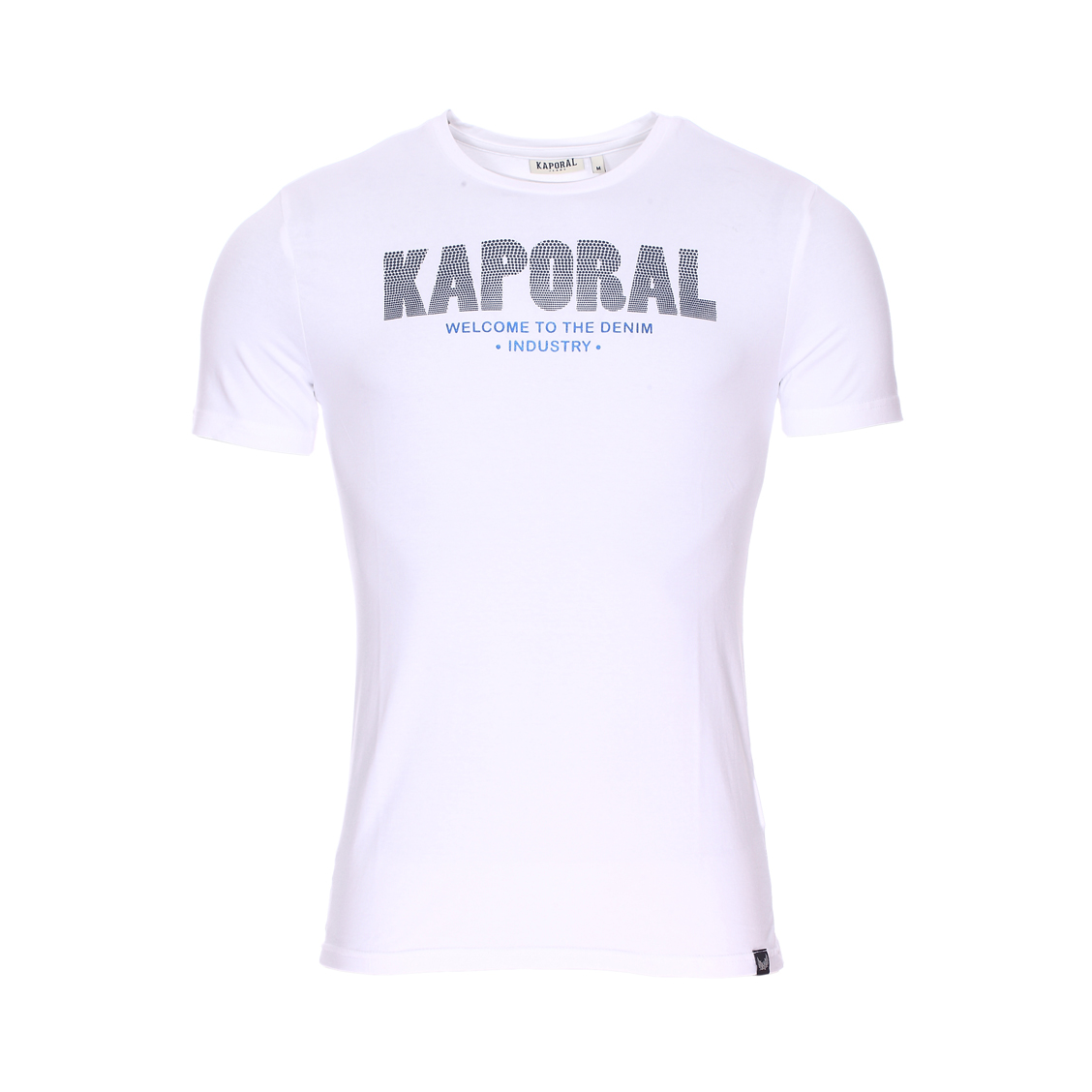 Tee-shirt col rond  niyoo en coton stretch blanc à flocage relief
