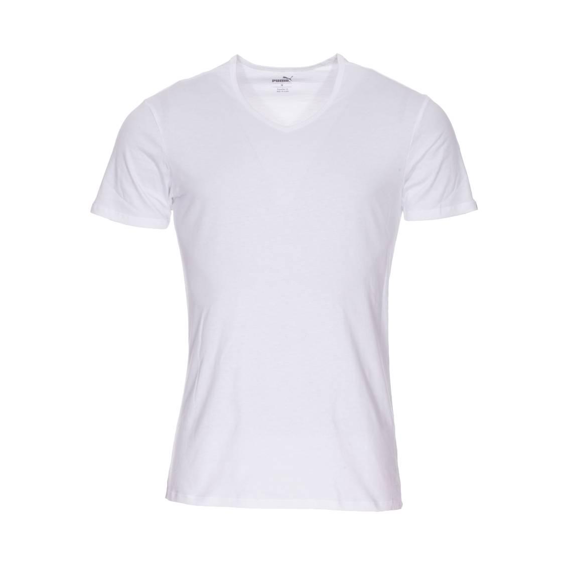 Shirt De Puma Hommes V 2 Col Coton Lot BlancRue Basic Des En Tee 1TFJcKl