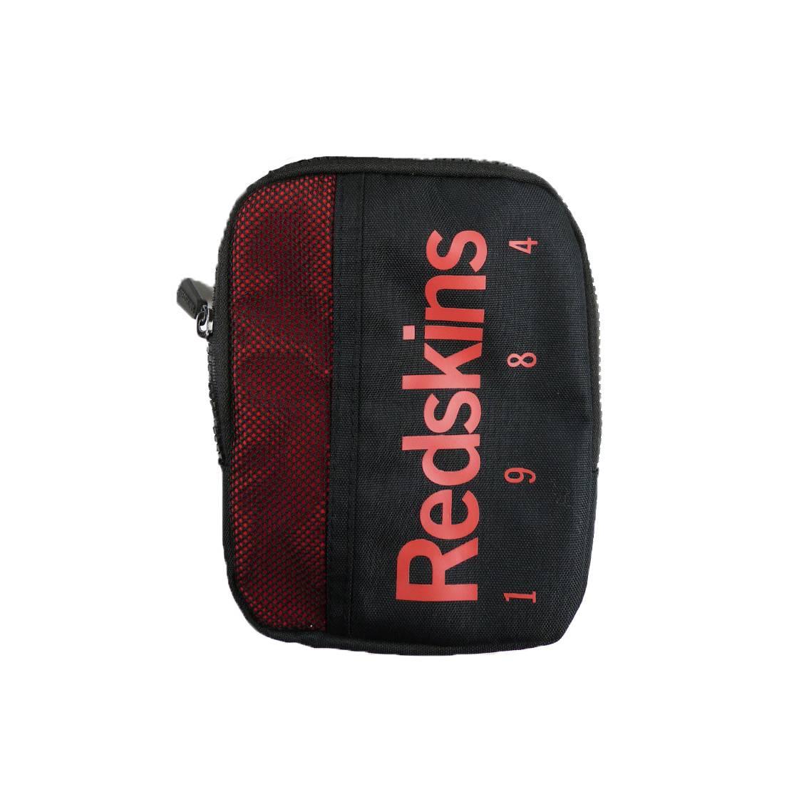 Sacoche plate redskins harmonie noire à détails rouges