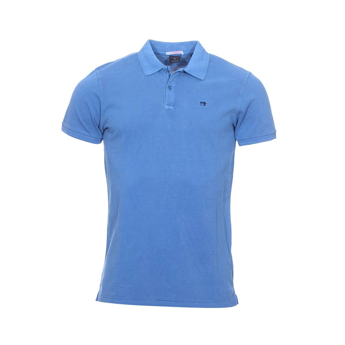 a9e9e09c8a53 Polo manches courtes Scotch and Soda en piqué de coton bleu indigo ...