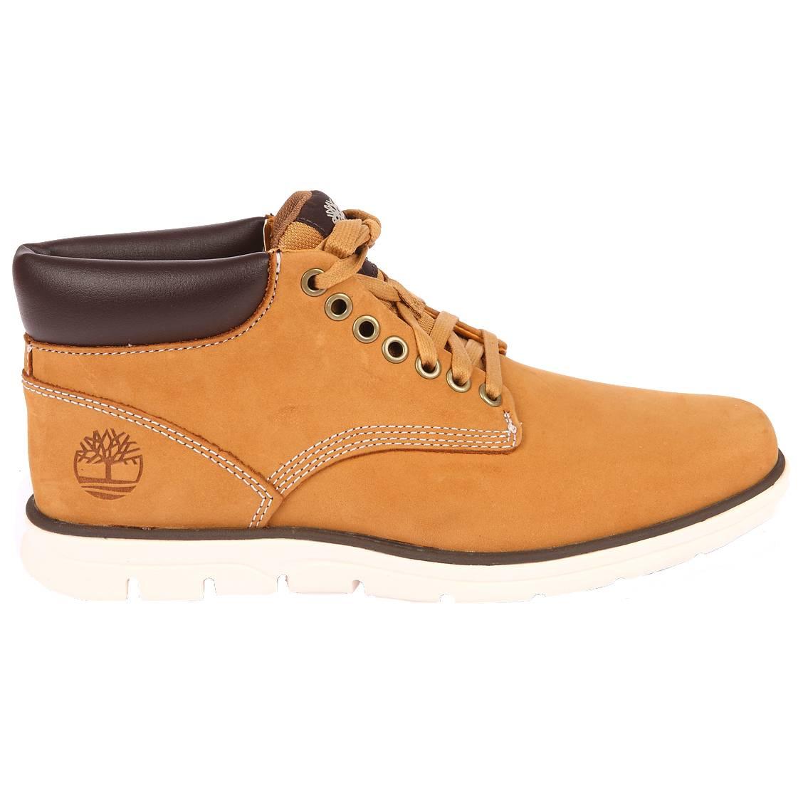 Boots fines  bradstreet en cuir véritable camel