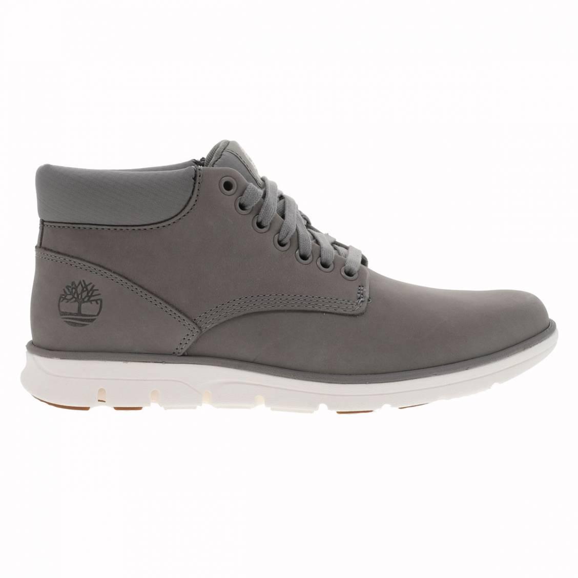 Boots fines  bradstreet en cuir véritable gris