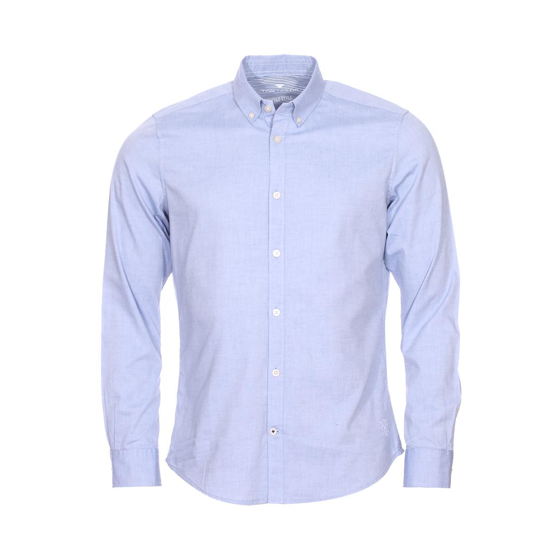 Chemise ajustée  floyd en coton bleu à opposition blanche à rayures bleu chiné