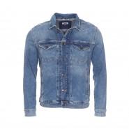 Veste en jean Tommy Jeans CLMMB en coton stretch bleu délavé