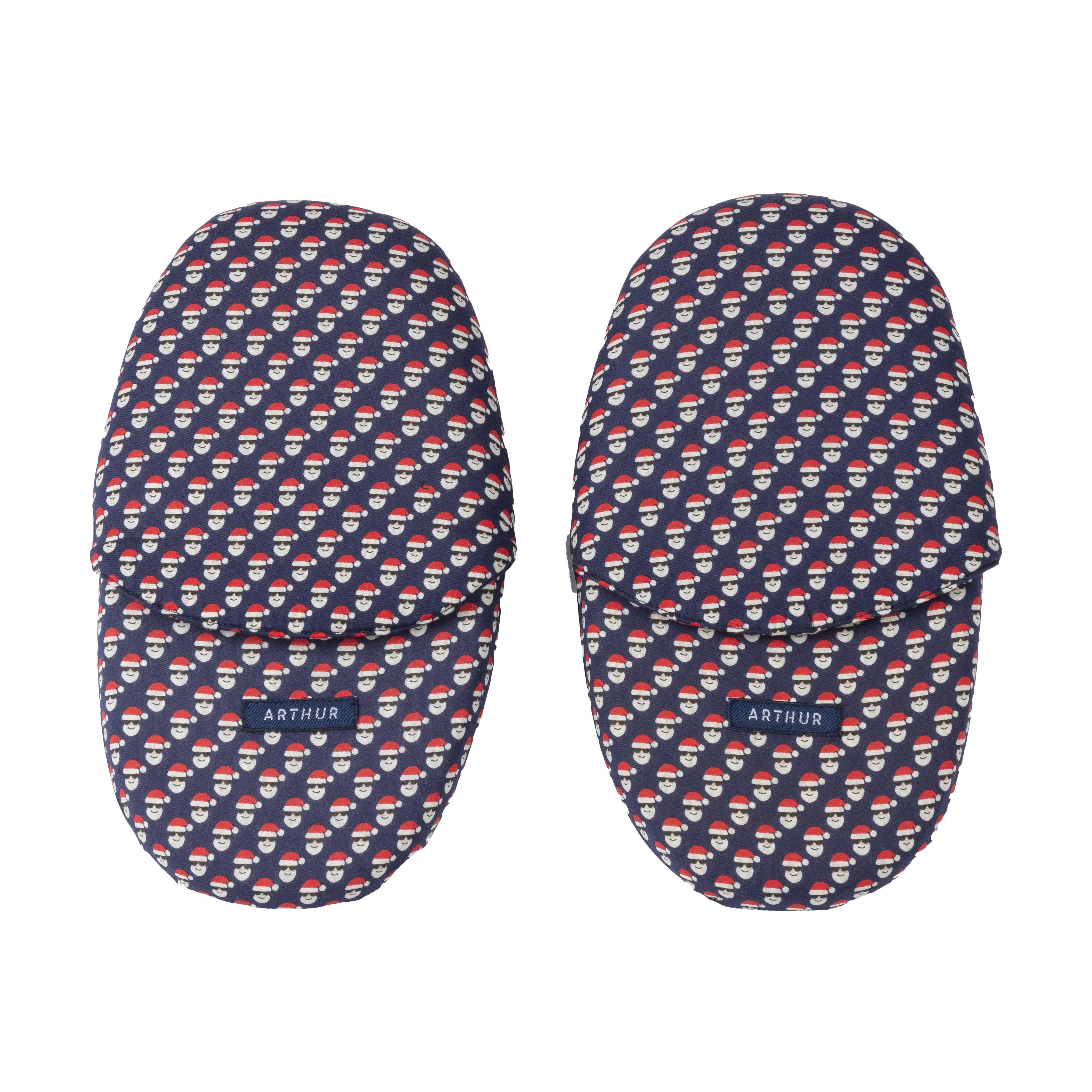 Pantoufles  tasanta bleu marine à motifs noël
