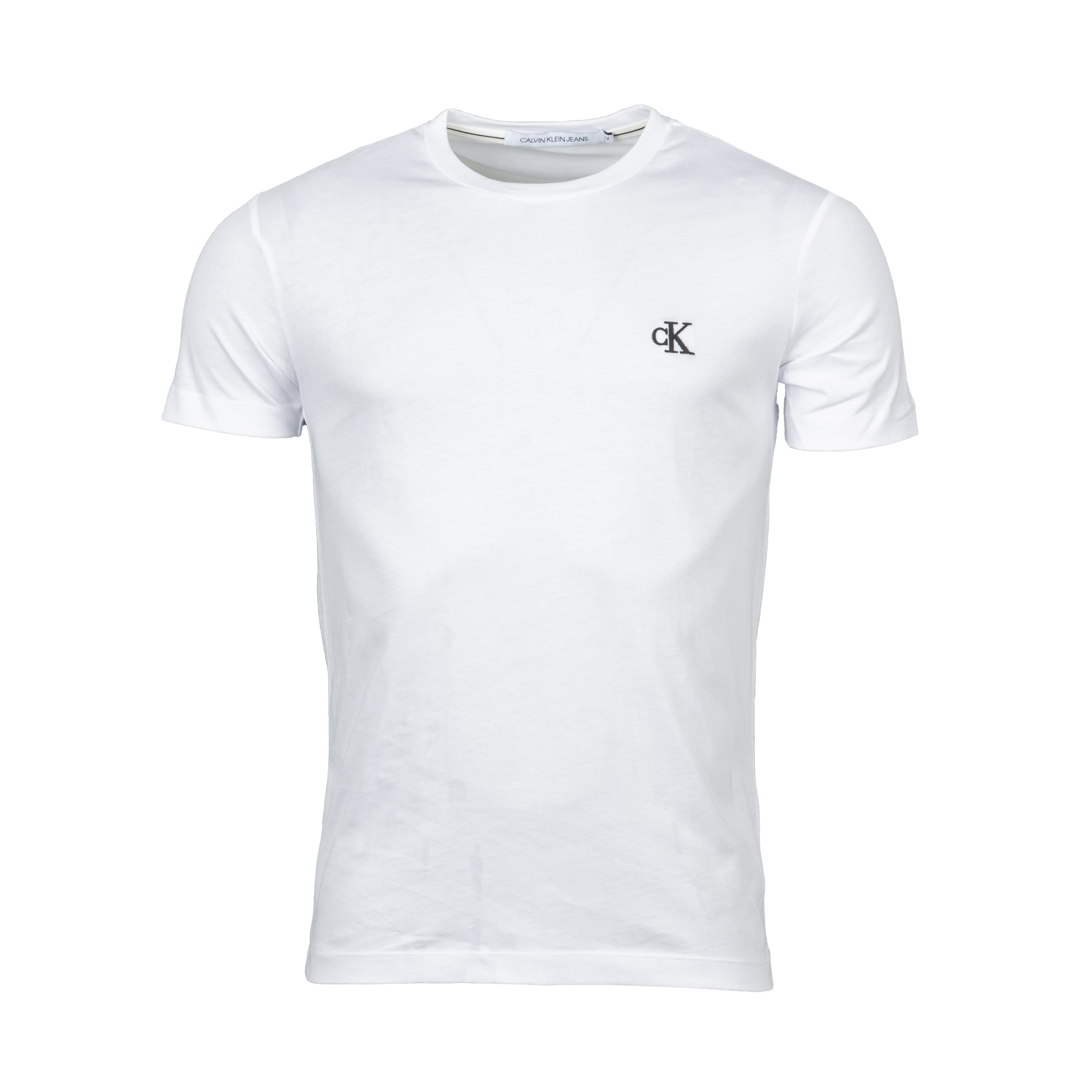 Tee-shirt col rond  essential en coton blanc