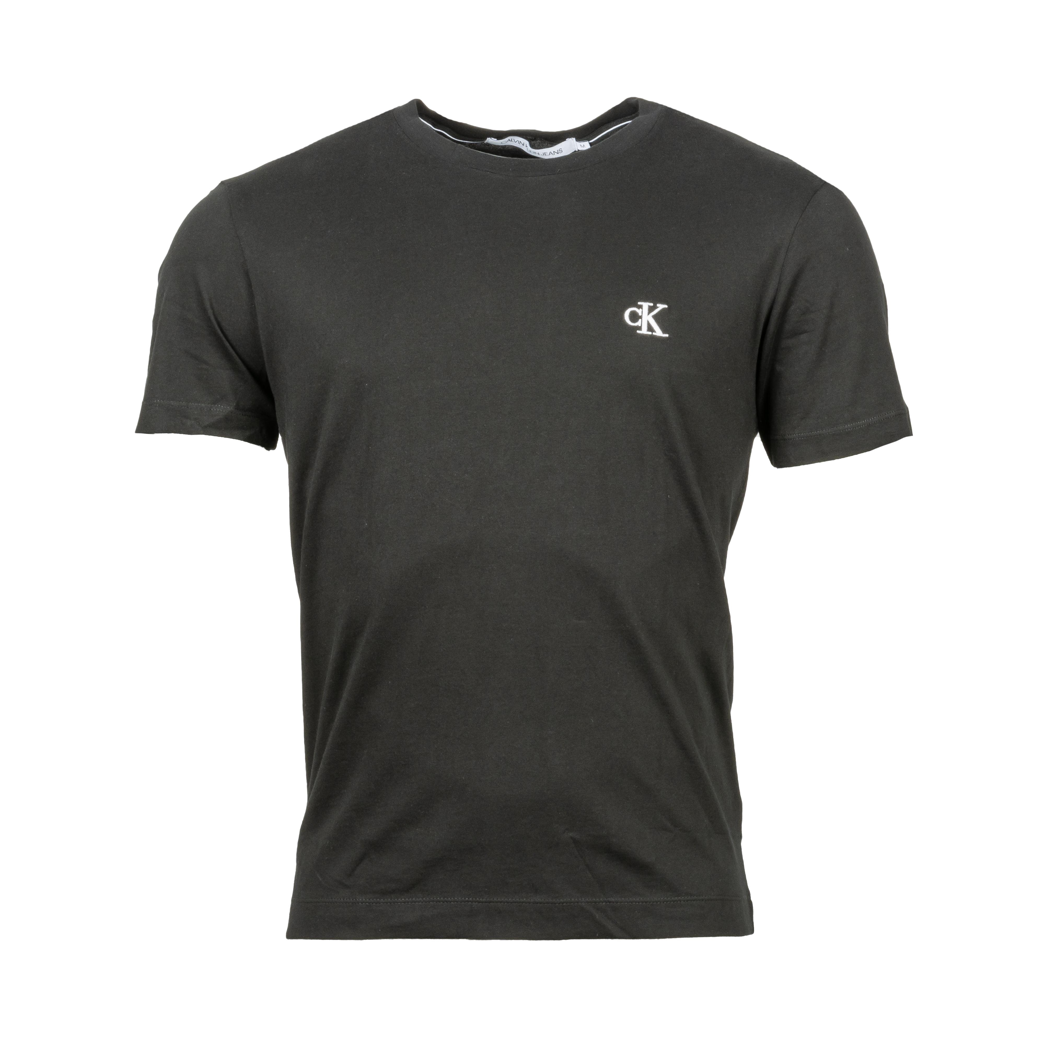 Tee-shirt col rond  essential en coton noir