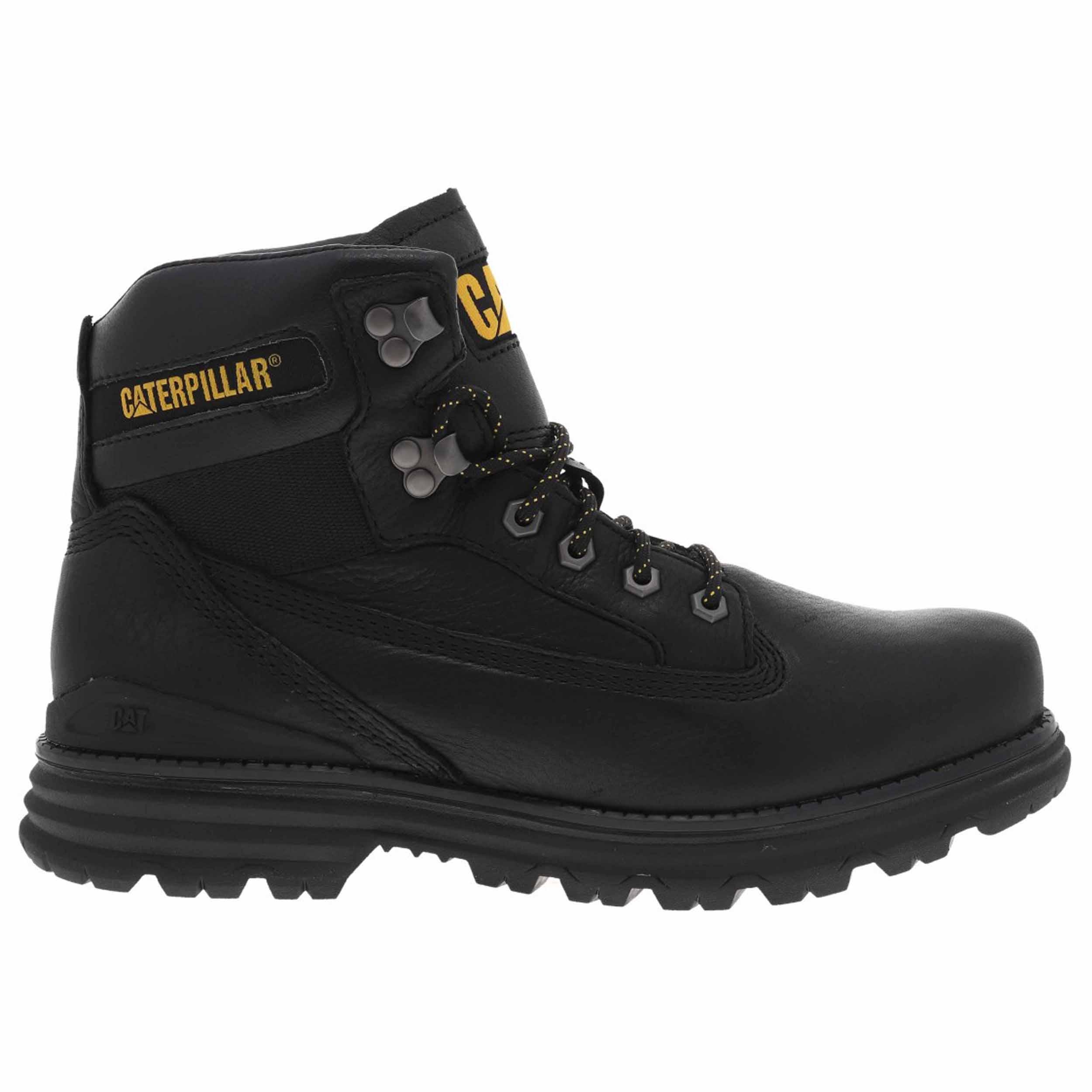 Chaussures montantes Caterpillar Baseplate en cuir noir. - Cuir- Montantes- Coque dur au bout des chaussures - Doublure en toile noire