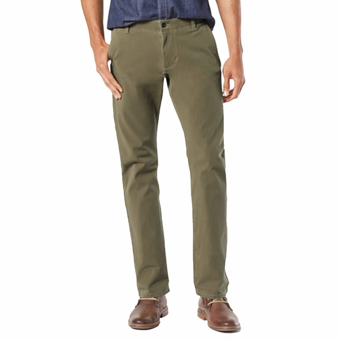 Pantalon  alpha khaki en coton stretch olive