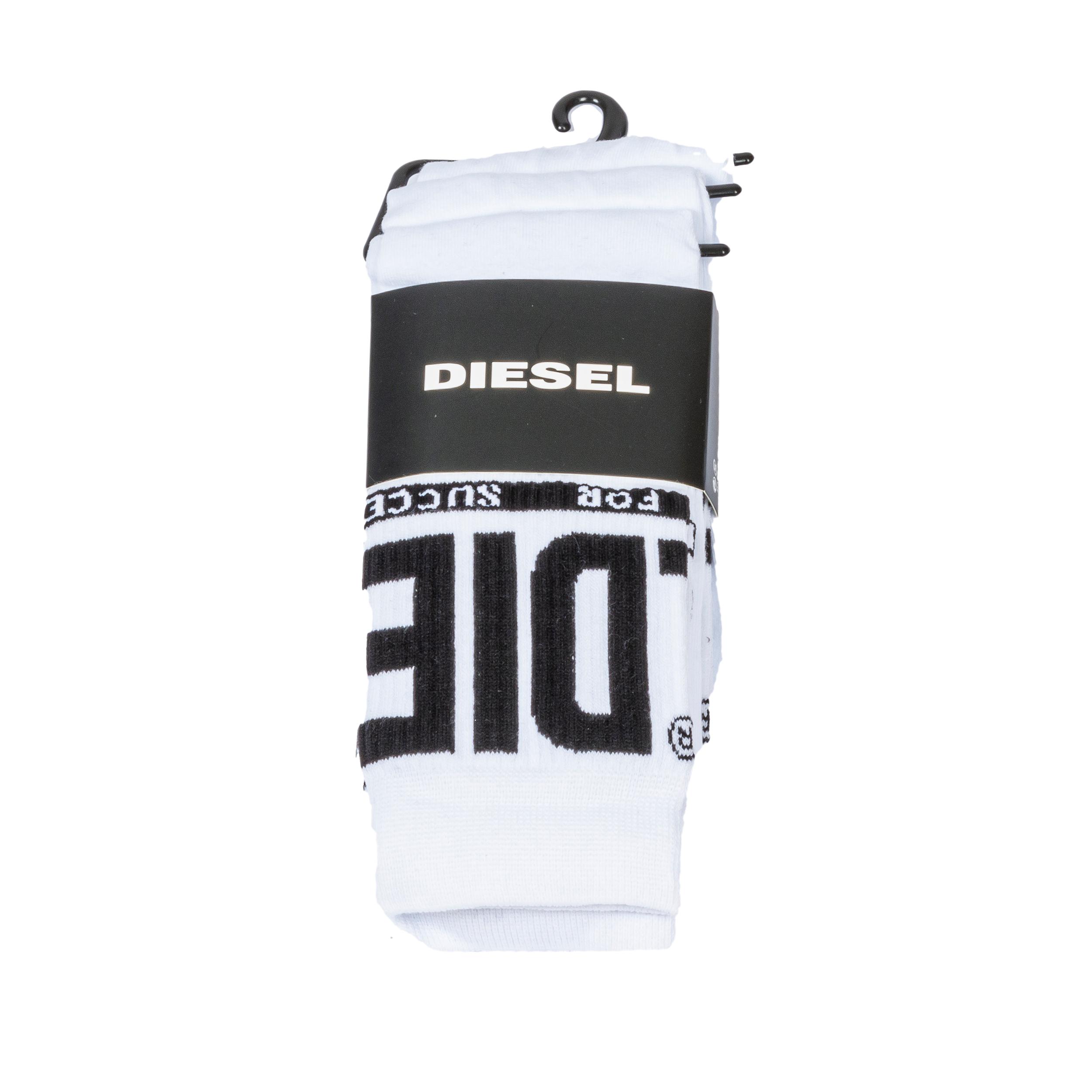 Lot de 3 paires de chaussettes diesel ray en coton mélangé blanc