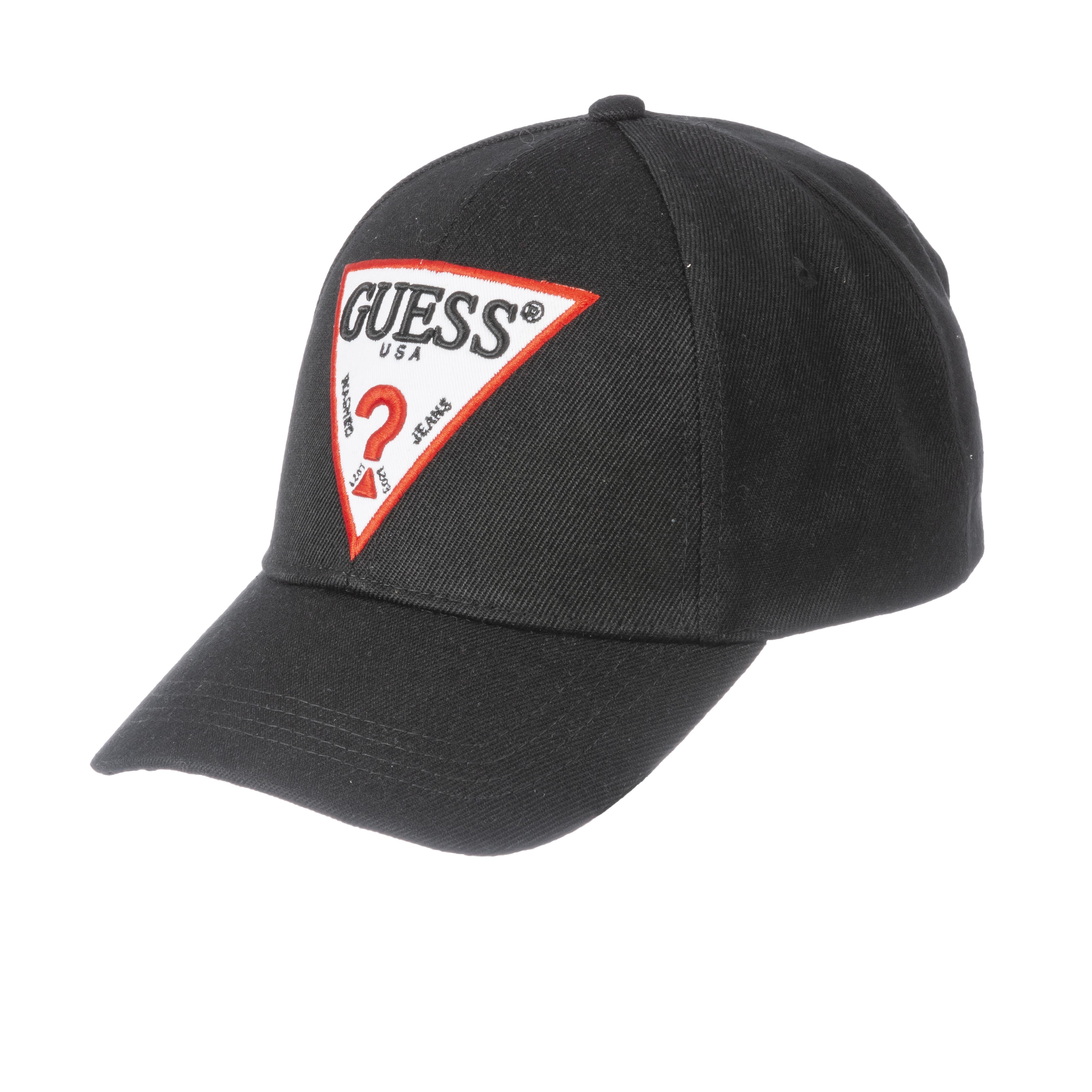 Casquette guess noire à logo brodé