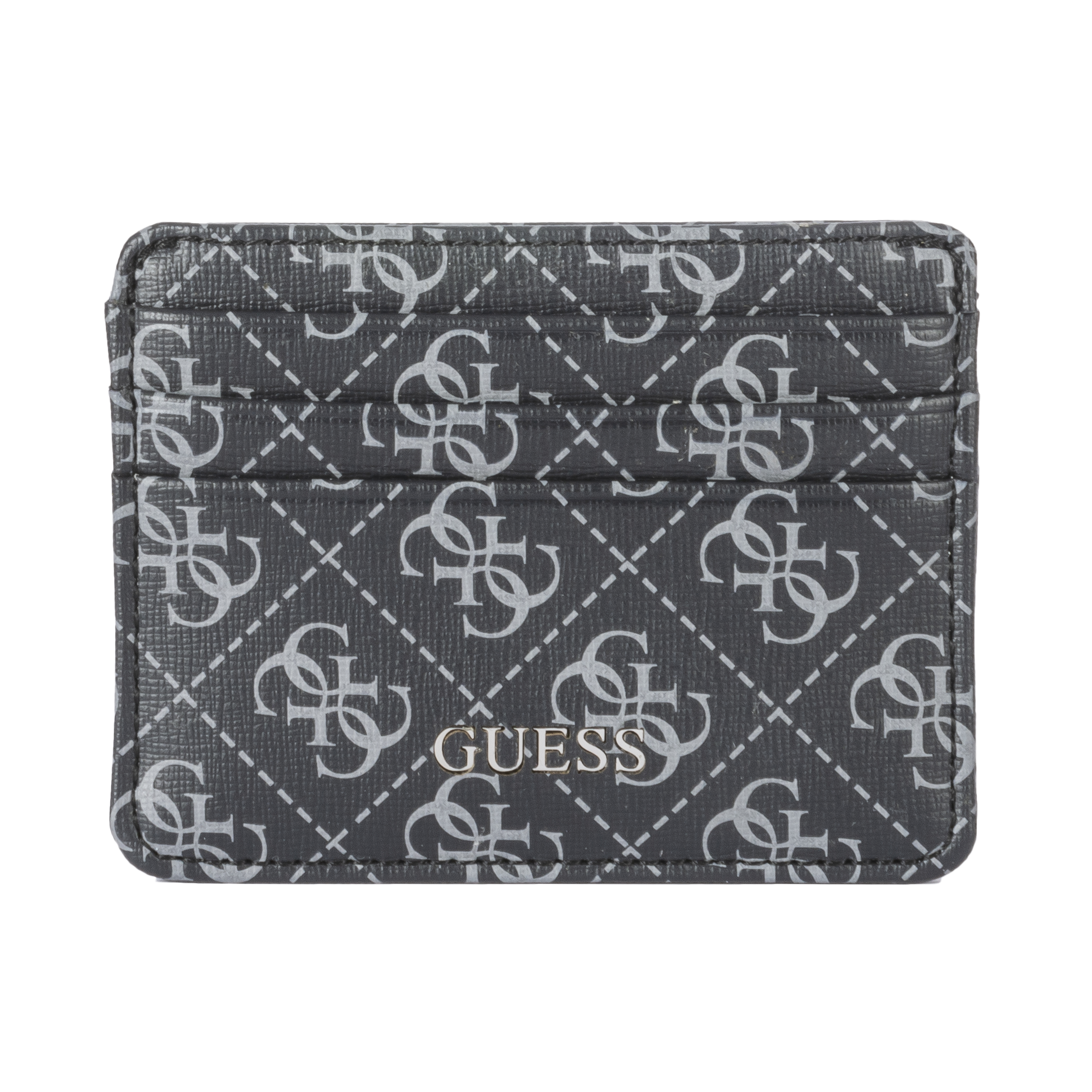 Porte cartes guess noir imprimé