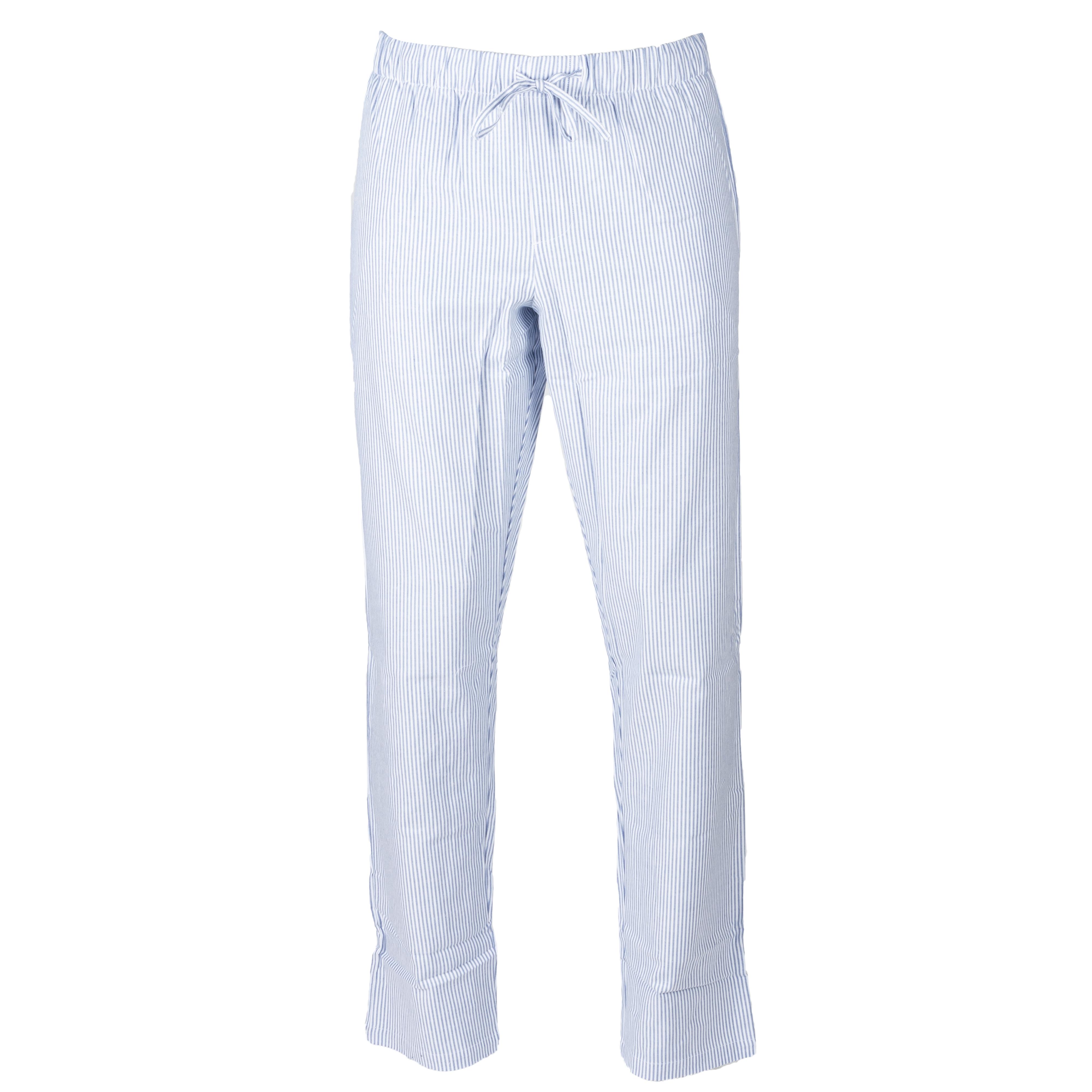 . - Coton (100%) - A rayures bleu marine et blanches