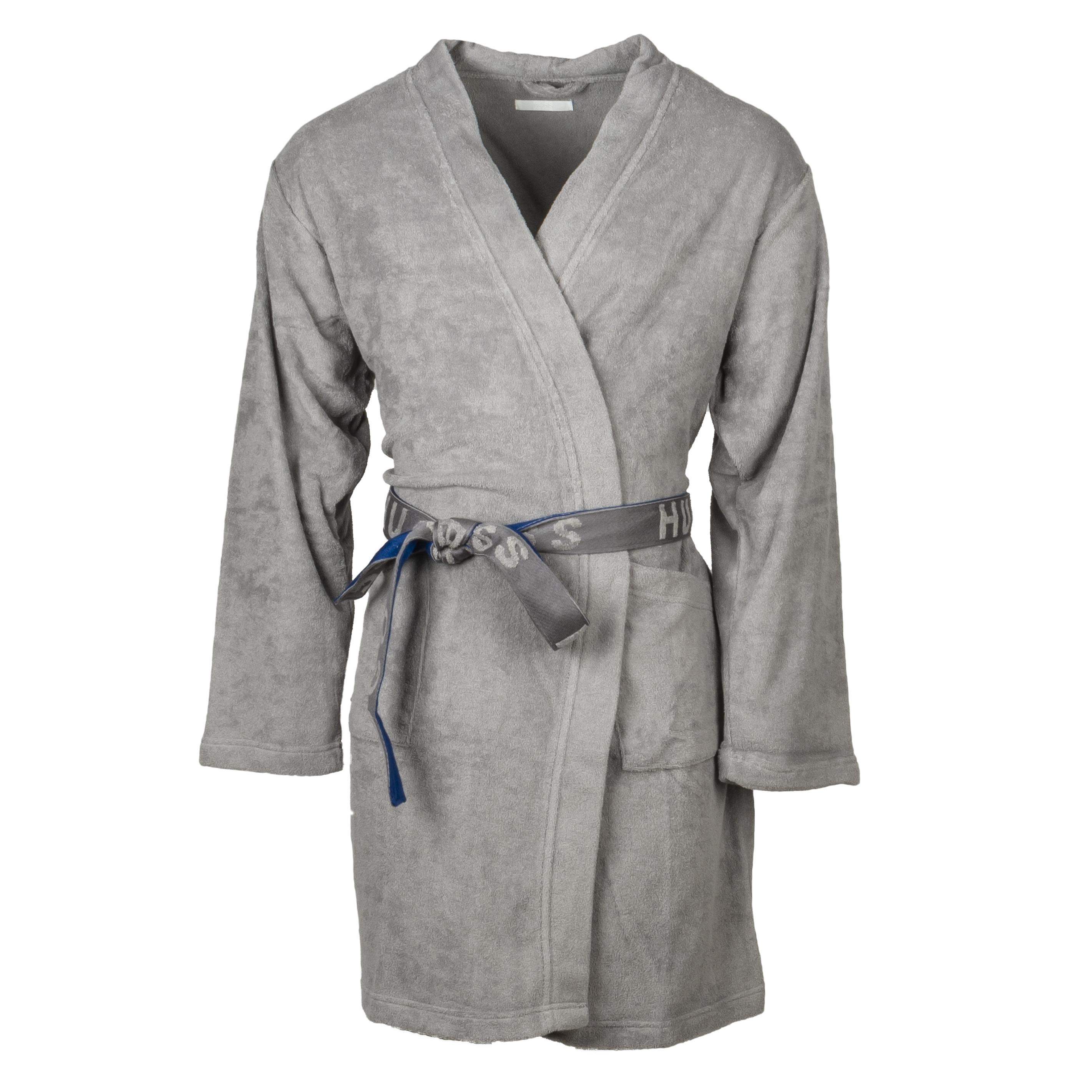 Kimono  tonickim en coton mélangé gris et bleu