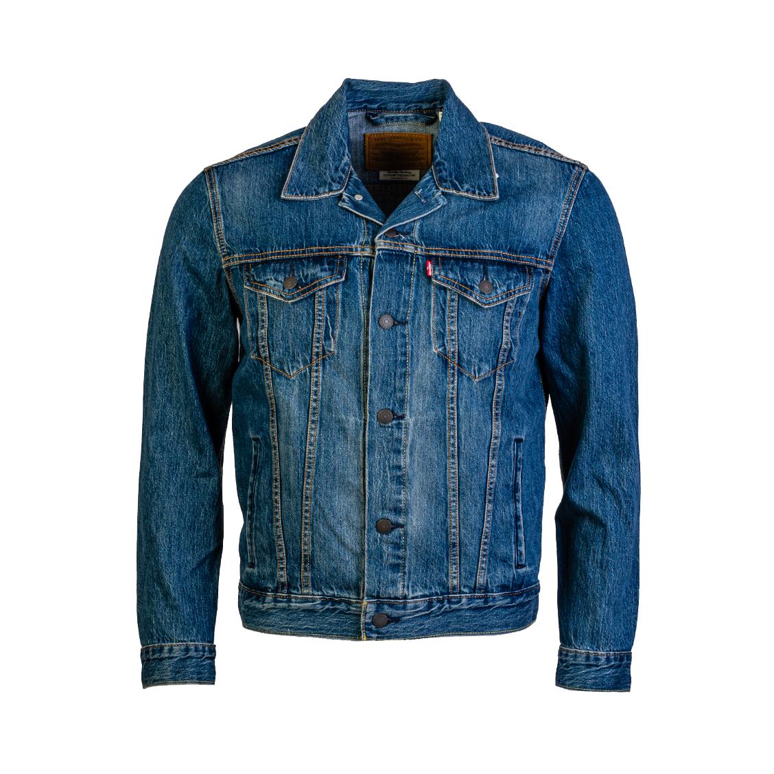 Blouson levi\'s trucker mayze en jean bleu denim