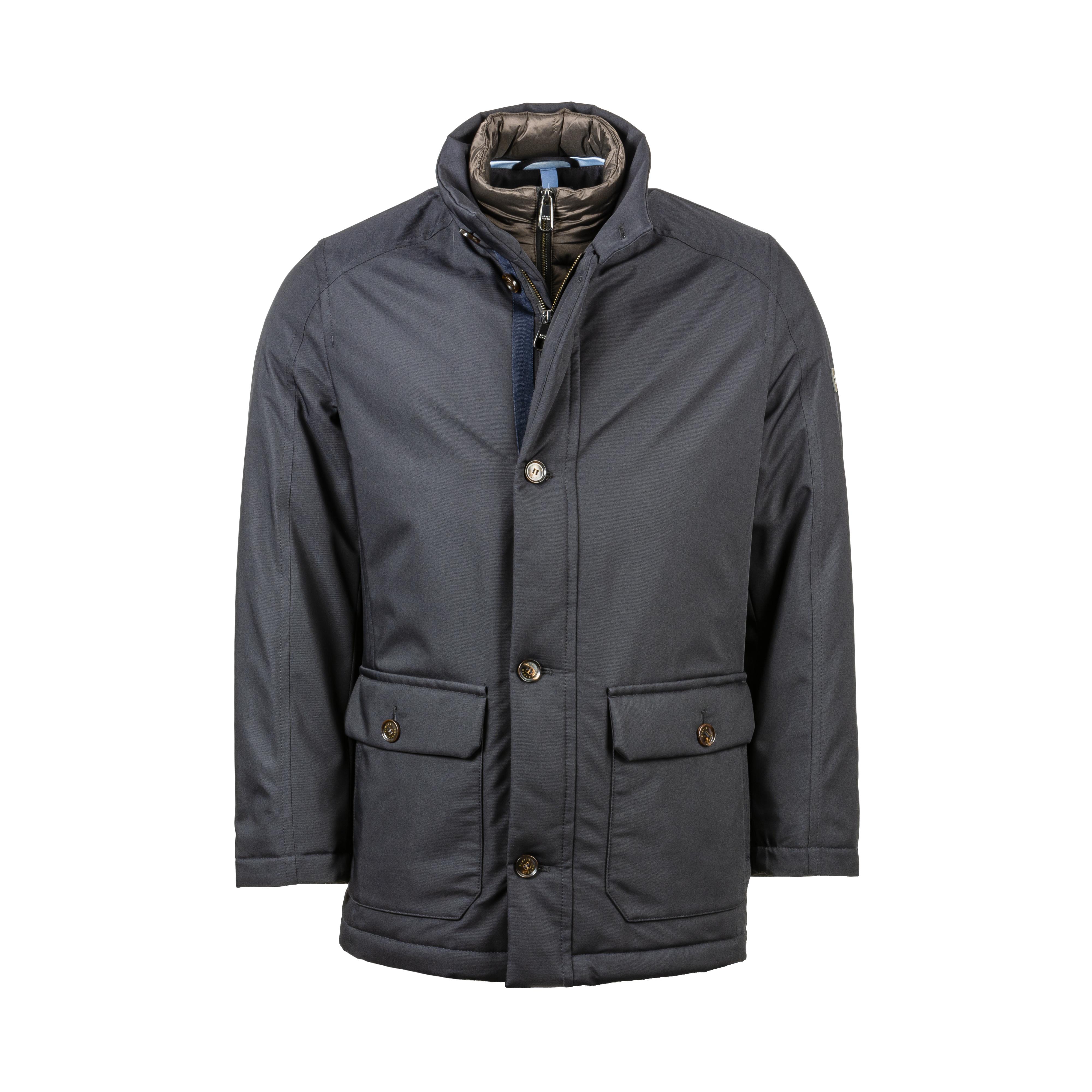 Manteau  bleu marine à doublure effet doudoune