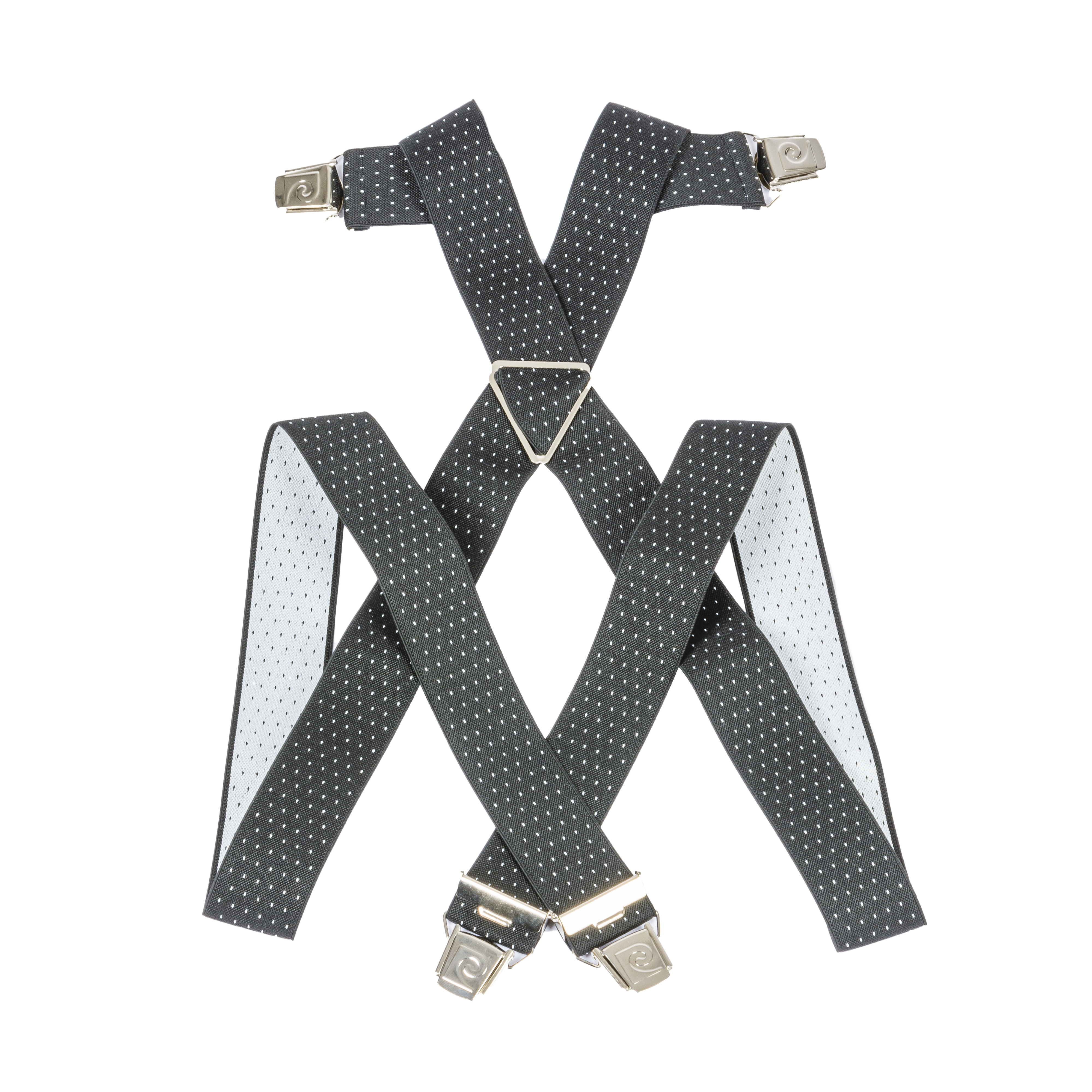 Bretelles pierre cardin noires à motifs blancs