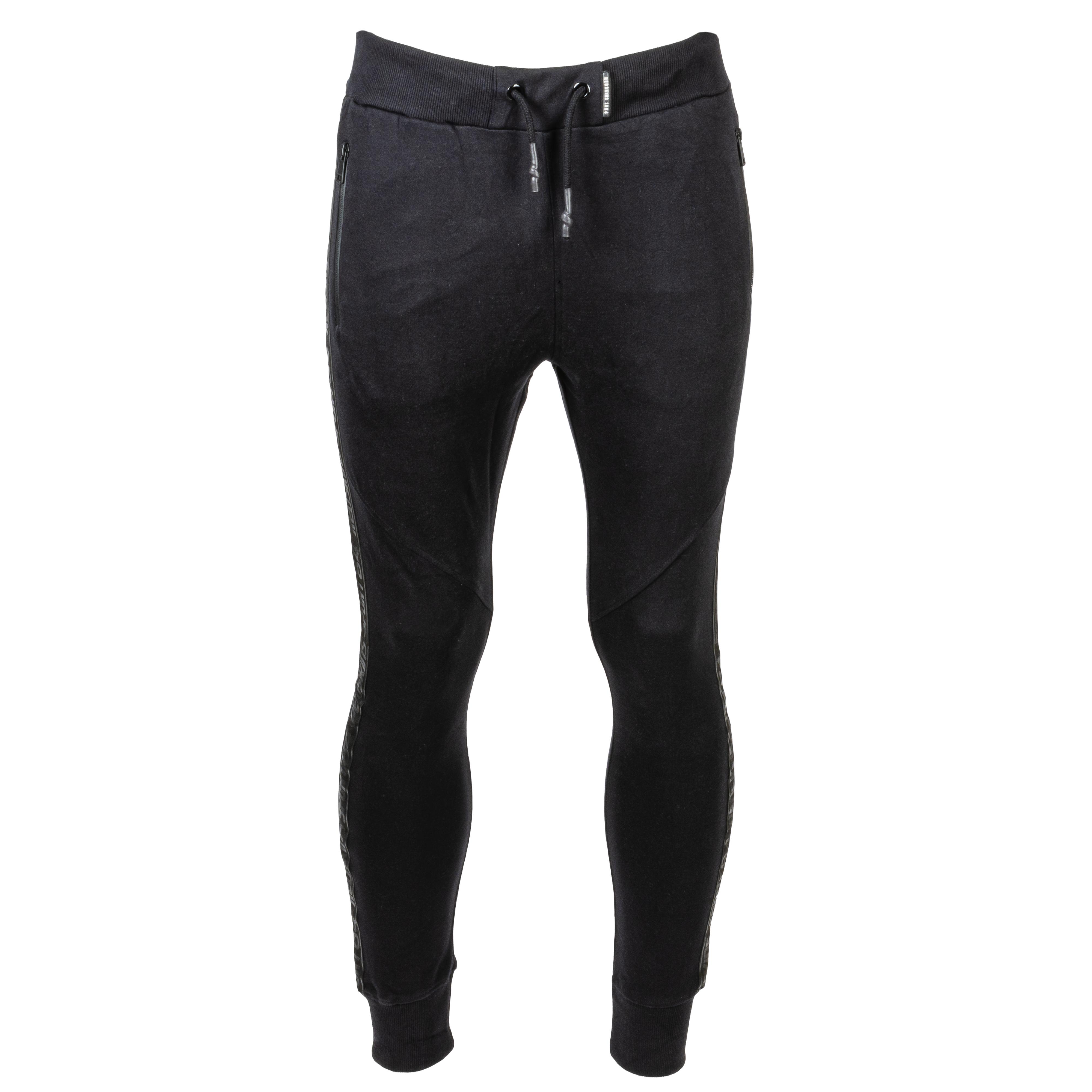 Pantalon de jogging  serty noir à bandes latérales