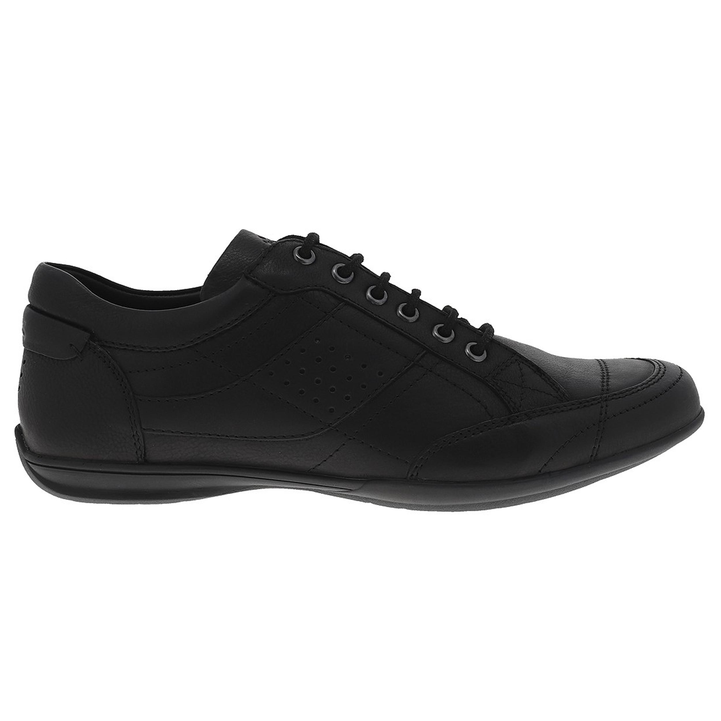 Chaussures TBS Tumbler en cuir noir. - Cuir- Noire- Lacets noirs