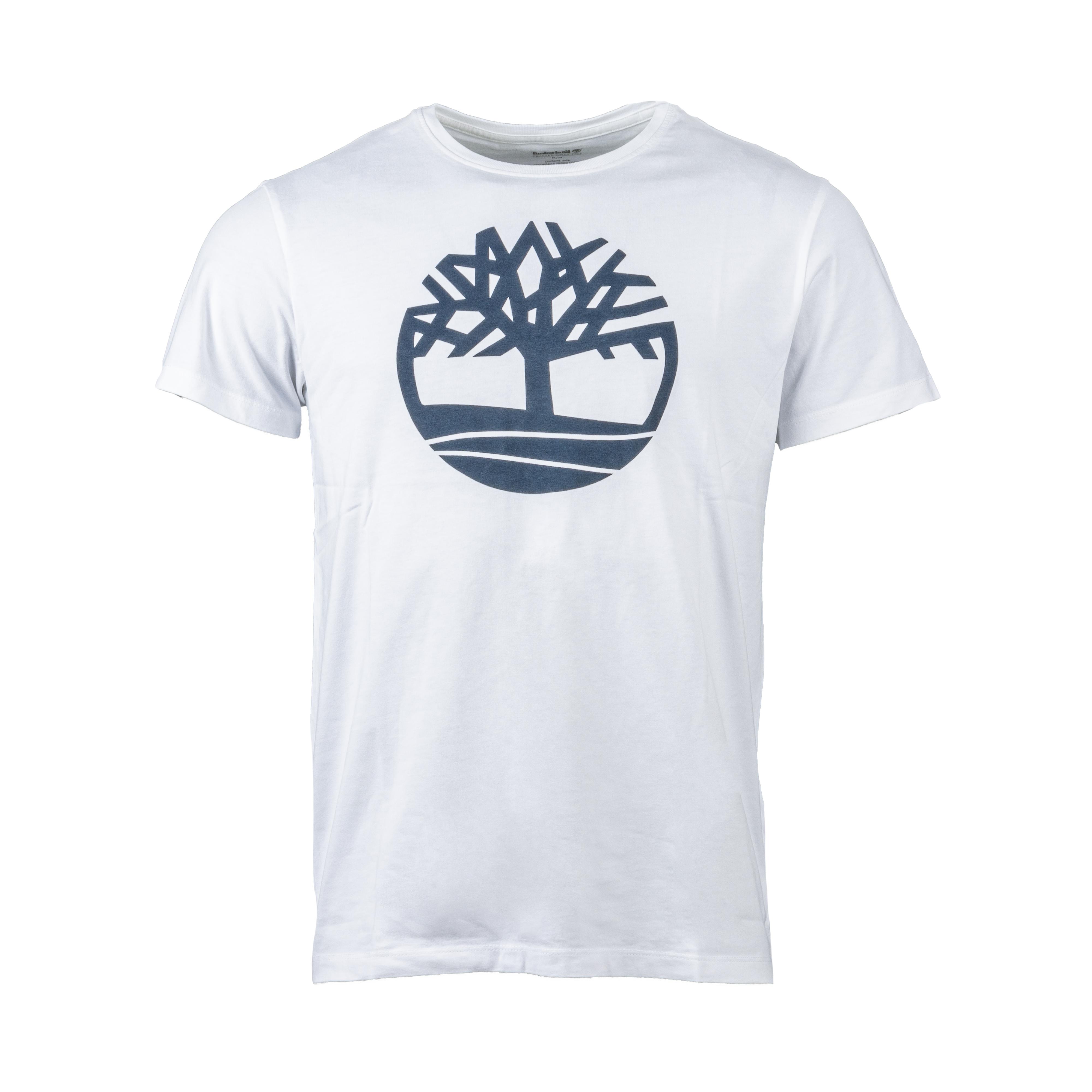 Tee-shirt  en coton blanc floqué