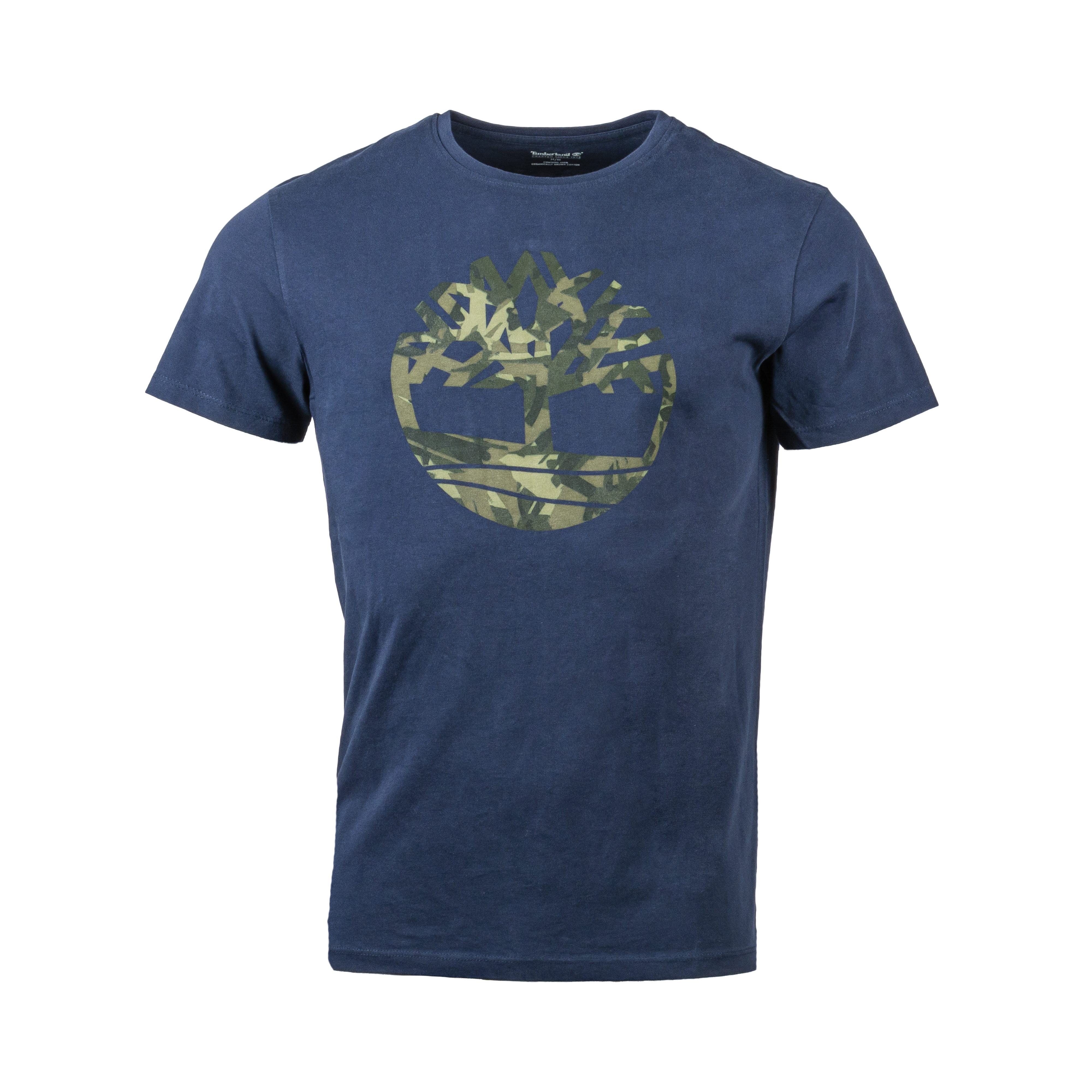 Tee-shirt  en coton bleu marine floqué