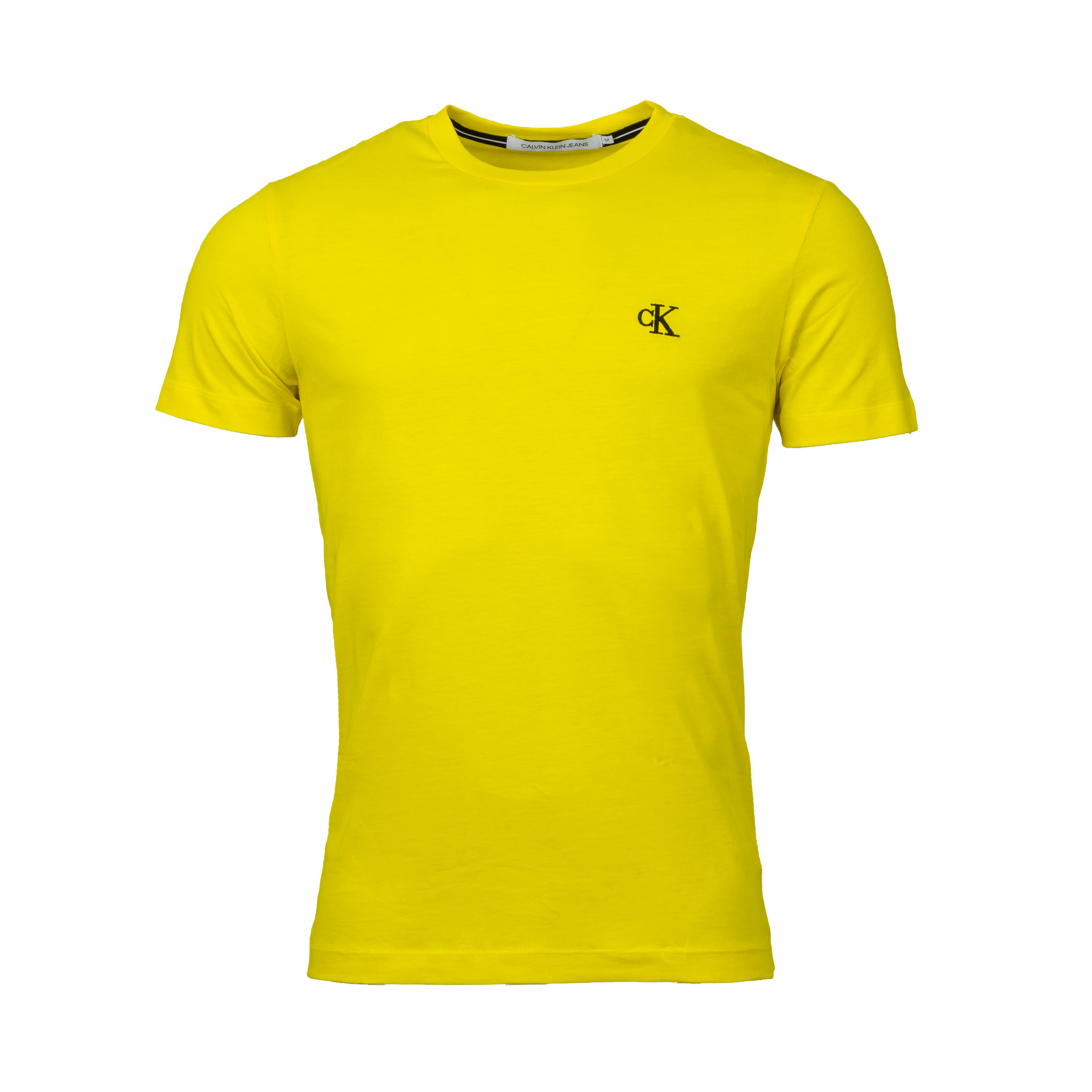 Tee-shirt col rond  essential en coton jaune