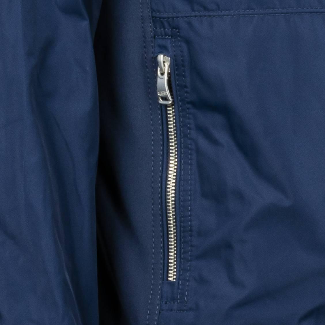 Blouson Delahaye bleu marine effet cuir suédé | Rue Des Hommes