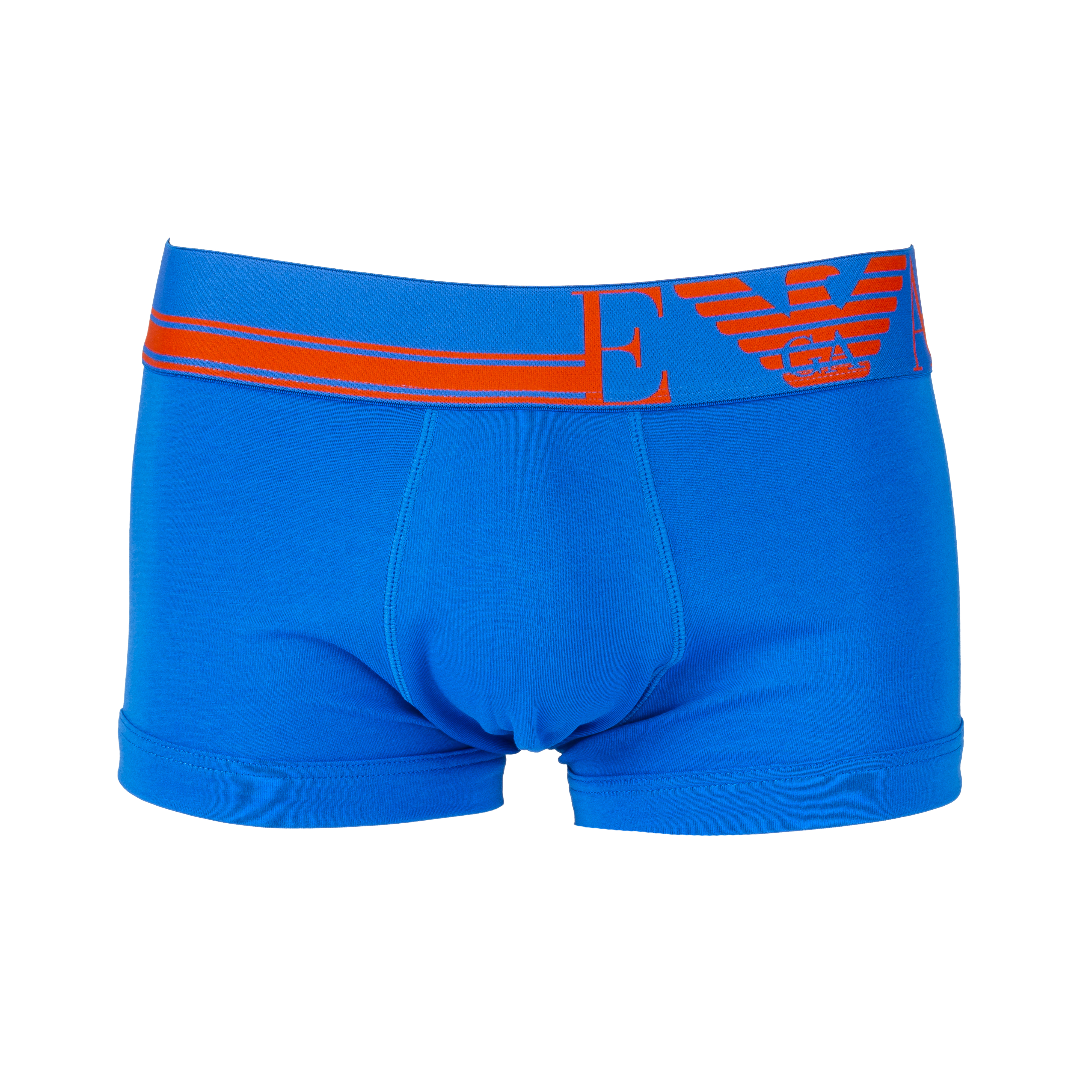 Boxer  en coton stretch bleu pétrole