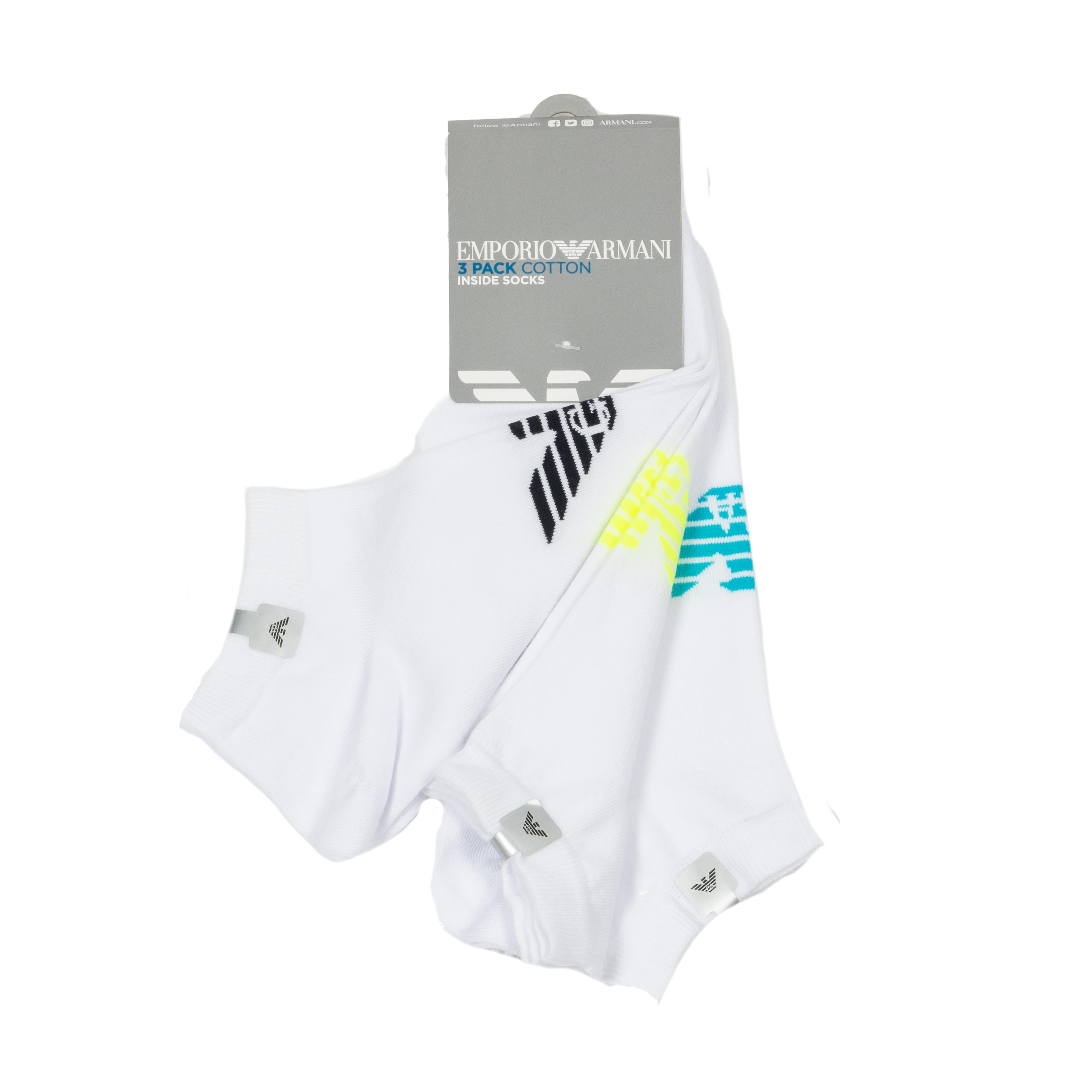 Lot de 3 paires de chaussettes basses  en coton mélangé blanc