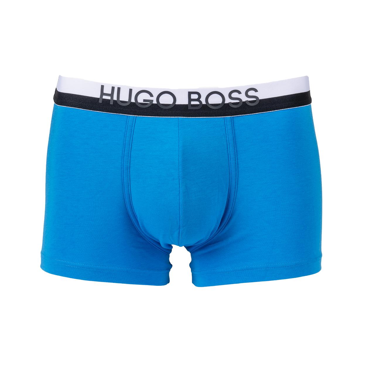 Boxer  en coton mélangé bleu turquoise