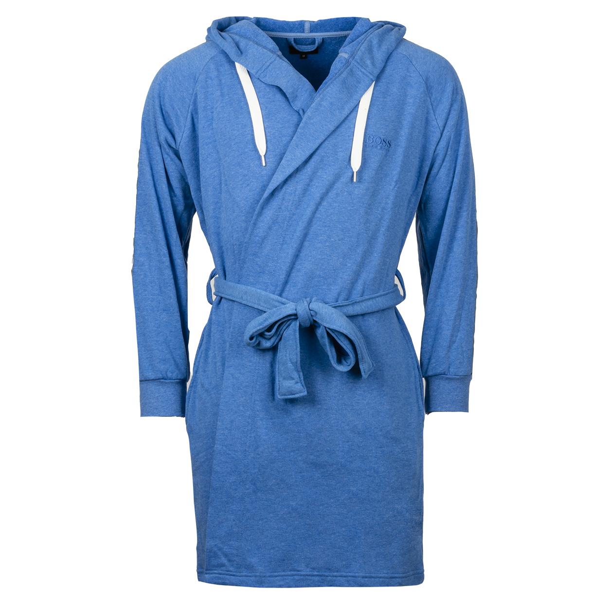 Peignoir d\'intérieur à capuche  paddy en coton mélangé bleu